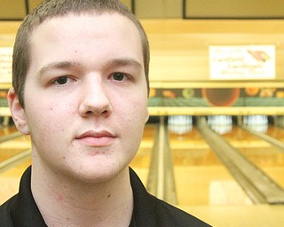 Canfield High senior bowler Tyler Frklech rolled a perfect game during a match against the Howland Tigers on