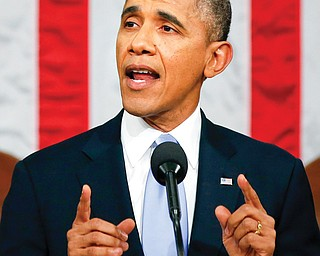 President Barack Obama delivers the State of the Union address in the House chamber Tuesday.
