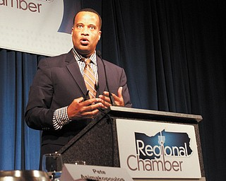Jay Williams, executive director of the U.S. Office of Recovery for Auto Communities and Workers, was the keynote speaker at the Economic Forecast Breakfast in Boardman.