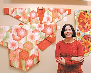 Cheryl Deibel, of Canfield specializes in quilting kimonos. She has a show of her colorful quilted works, including those seen in these photos, at the Nissen Gallery at ValleyCare Trumbull Memorial Hospital in Warren
