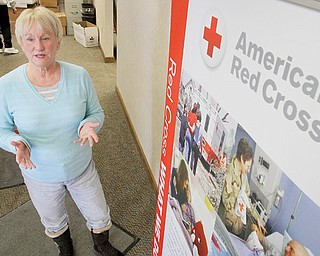 Karen Conklin, director of the Mahoning Valley Chapter of the American Red Cross, stands in the organization's new rented headquarters on Belmont Avenue in Liberty. The Valley chapter relocated from its headquarters in Warren to be more centrally located to all its service area, which now includes Columbiana County.