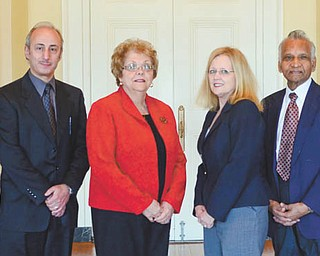 SPECIAL TO THE VINDICATOR Those involved with the annual Tri-County Heart Ball are, from left, Dr. Joseph A. Graziano and Dr. Wahoub M. Hout, who will both receive the 2014 Cardiac Service Award; Mariann Pacak, event co-chair; Kathryn Shroder, event chair; Dr. Sudhakar V. Rao, 2014 Heart of the Community Award recipient; and Robert Shroder, CEO, Humility of Mary Health Partners, 2014 Heart Ball Signature Sponsor.