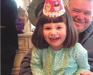 Ava Lowry is shown with Grandpa Michael Lowry at Sophia's birthday party in Youngstown. Submitted by Grandma Annie Lowry of Youngstown.