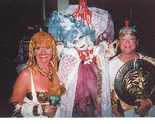 Contest winners at a Halloween bash in 2013 at the Baja Beach Club in Pittsburgh were Deborah Carissimi, left; Marie Antoinette; and Ron Hamrock.