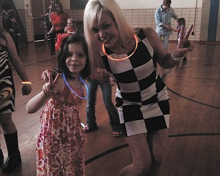 This photo of Terri and Harper Liller was taken at the mother/daughter disco dance at Market Street Elementary in Boardman in April.