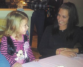 This is Jennifer Burrell of Austintown and her daughter, Natalie, on her third birthday.
