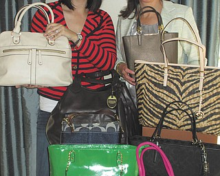 SPECIAL TO THE VINDICATOR Canfield Community Care Net will host a Designer Purse Bash and Luncheon at 11:30 a.m. May 31 at Zion Lutheran Church, 3300 Canfield Road, Cornersburg. Co-chairwomen for the event are Rebecca Holcomb, left, and Jennifer Holliday-Buchanan. Tickets are $25 for lunch and entry into the drawings for a handbag or tote. Some featured designers are Coach, Michael Kors and Kate Spade, which are donated by Macy's, Magnolia's on the Green, Dillard's, Suzanne's and Francesca's, to name a few. Canfield Care Net has assisted Canfield families with major expenses from serious illnesses since 2001, and contributions have totaled more than $400,000. For tickets or information stop by Magnolia's on the Green, 79 N. Broad St., Canfield, call 330-207-6733 or email support@canfieldcommunitycarenet.org.