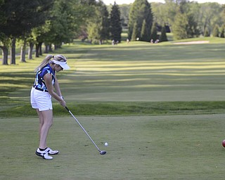 Katie Rickman | The Vindicator.Alexa Tringhese, 16, of Columbiana hits the ball during the Greatest Golfer Junior Qualifier May 24, 2014.