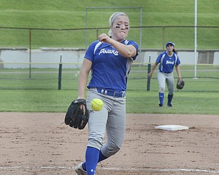 Katie Rickman | The Vindicator.Poland's Taylor Miokovic pitches during the third inning of the tournament game against Tallmadge in Akron May 28, 2014.