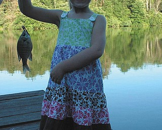 Veronica Cionni of Boardman, caught her first fish all by herself when she was 5-years old in the summer of 2010.  Submitted by her mom,  Krissie Cionni.