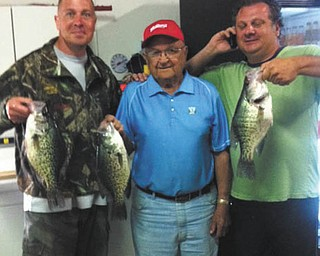 These friends, Brian Cionni, left, of Boardman; Frank Bochenek of Struthers and Keith Galich of Struthers,  had a good day fishing in the summer of 2013. Sent by Brian's wife, Krissie.