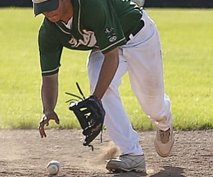 Ursuline's SS #9 Joel Hake has a miscue during the 5th.