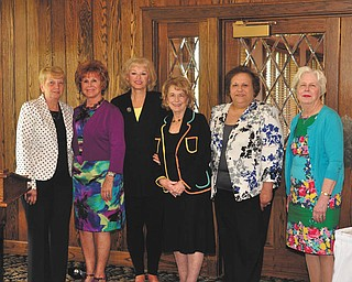 SPECIAL TO THE VINDICATOR Youngstown Area Federation of Women's Clubs Inc. recently installed officers for 2014-2015. From left are Rusti Puromaki, immediate past president, and 2014-2015 officers Catherine Campana, Suzanne Brown, Barbara Higgins, Mary Witkowski and Lee Bowden.