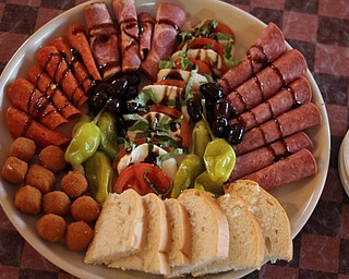 The Antipasto Platter is the signature appetizer at Dechellis Italian Café in New Middletown.