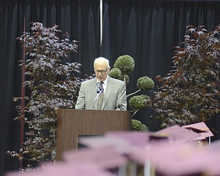 Katie Rickman | The Vindicator.Boardman Local Schools Superintendent Frank Lazzeri addresses the crowd gathered for commencement at Boardman High School June 8, 2014.