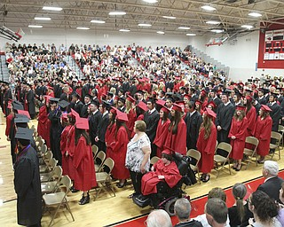 William D Lewis The Vindicator Canfield 2014 graduates during Sunday commencement at CHS.