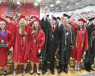William D Lewis The Vindicator Canfield 2014 grads sing alma mater during Sunday commencement at CHS. S