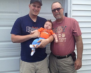 Mark Bregar of Columbiana, his son, Nathan and Mark's father, Kerry Bregar of New Middletown. Three generations submitted by Nicole Bregar, Mark's wife.