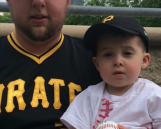 These two are ready for a Pirates game, with baseball ready to throw. Submitted by Alexandra Portwood.