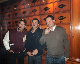 Zack and Brian Krichbaum, both of Columbus, with Dad, Scott Krichbaum of Boardman, had a good time smoking cigars in Washington D.C.