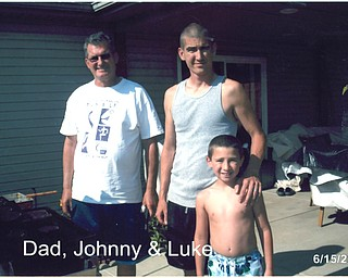John P., John J. and Luke J. Vanca make three generations, all of Campbell.