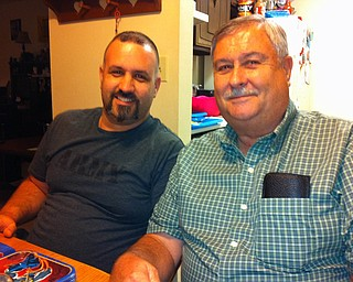 Karl Hartzell of Youngstown and his dad, Ken of Austintown, are celebrating Karl's birthday in 2013. Sent by mom and wife Linda.