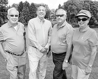 WILLIAM D. LEWIS | THE VINDICATOR Committee co-chairs of the Clubs for Kids Golf Classic are, from left, Jim Sisek, David Tod II, and Reid and Judy Schmutz.