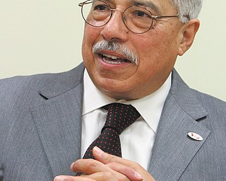 Ikram Khawaja, Youngstown State University's interim president, has been at the university since 1968. He's retiring June 30, and today is his last day in office before vacation.