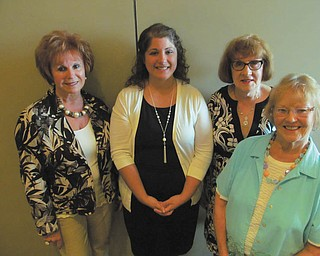 SPECIAL TO THE VINDICATOR: The Catholic Collegiate Association gave its annual scholarship at a dinner at Cafe 422 in Warren in May. The winner is Shannon Whitaker, who is attending Penn State Shenango and majoring in occupational therapy. Dr. Diane Kurarsky, the professor who recommended her for the scholarship, also attended. Special guest for the evening was Sister Isabelle, OSU, who presented the club with a scrapbook with club history collected by her sister, a life member of the association. From left are Cathy Campana, president of the association; Whitaker; Barbara Banks, vice president; and Mary Place Thomas, scholarship chairwoman. For information about membership call 330-707-1262.