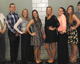 SPECIAL TO THE VINDICATAOR Struthers Rotary recently awarded seven William Comstock scholarships to Struthers students who serve the community through activities and organizations that help others. From left are Tom Baringer, Rotary scholarship chairman; and recipients Gary Muntean, Halle Smrek, McKenna Shives, Lindsey Opritza, Alexa Bayus, Olivia Torisk and Sean Guerrieri. The Rotary and the Comstock family have funded these scholarships. Since 1984, Struthers Rotary has awarded more than $80,000 in scholarships.