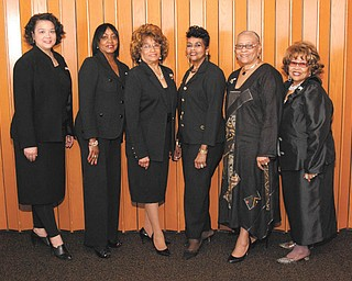 SPECIAL TO THE VINDICATOR The Links Inc. recently installed new officers including, from left, Monica Hoskins-Vann, Marge Staples, Anne R. Cobbin, Krishmu Shipmon, Sarah Brown-Clark and Janice L. Beachum. Juanita Davis also was installed.