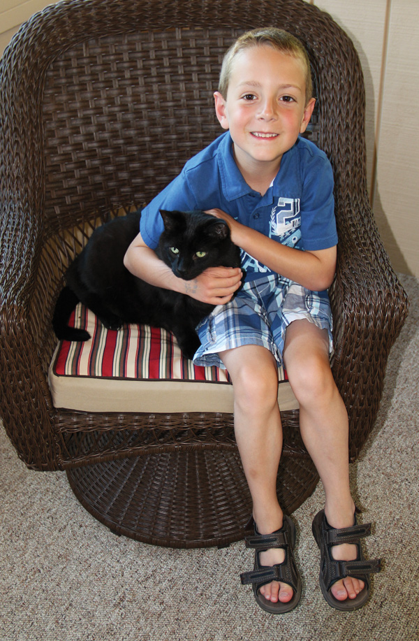 When Alex Sandford of Fowler turned 7 on June 9, in lieu of presents, he requested that party guests donate food and other necessary items to the Animal Welfare League of Trumbull County and Cats Are People Too, another local animal-rescue organization.