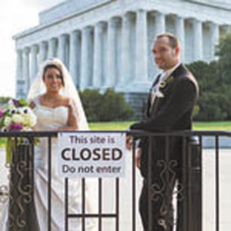 Dante DiRusso: This is Dante and Cindy DiRusso on their wedding day, Oct. 5, 2013, the day government offices in Washington D.C. were closed.
