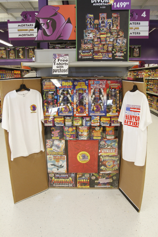 Phantom Fireworks offers the 'divorce' special, with two T-shirts, of course.