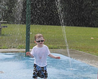 Dana Roth's 3-year-old son, Leland Allmon, is autistic and absolutely loves the splash pad at the Austintown Township Park. The family was there for his 3-year-old cousin, Landon's, birthday party on June 29. The family resides in Austintown. Sent by Dana Roth.