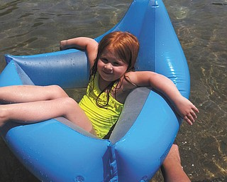 Bailey Orr of Hubbard at 4 years old enjoying Willow Lake.