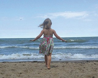 Mark Acerra's 3-year-old granddaughter, Jane Acerra, of Lakewood, is enjoying Lake Erie. She is the daughter of Dylan and Susie Acerra.