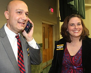 William D. Lewis The Vindicator Anthony D'Apolito and his wife Melissa during an election night party at St Luke Hall in Boardman.