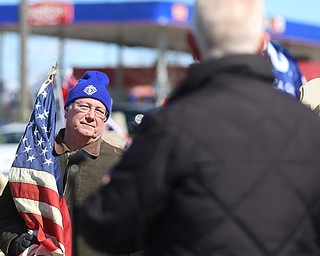 Bob Shipsky of Poland listens as Rep. Bill Johnson(R-Ohio 6th) speaks to supporters of President Donald Trump at the Summitville Tile parking lot on 224, Saturday, March 4, 2017 in Boardman. ..(Nikos Frazier   The Vindicator)..