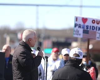 Rep. Bill Johnson(R-Ohio 6th) speaks to supporters of President Donald Trump at the Summitville Tile parking lot on 224, Saturday, March 4, 2017 in Boardman. ..(Nikos Frazier   The Vindicator)..