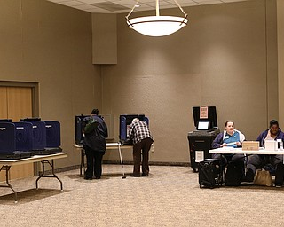 Low turnout at St. Christine Parish Center, Tuesday, May 2, 2017 in Youngstown. ..(Nikos Frazier | The Vindicator)..