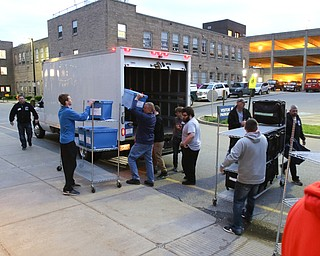 ROBERT K. YOSAY  | THE VINDICATOR..rolling in as voting results are trucked in to the Mahoning Valley Election headquarters. at Oak Hill Renissance