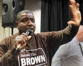 William D. Lewis the vindicator  Tito Brown reacts to news he won mayoral primary.  05022017 wdl tito brown l..