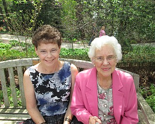 Theresa Semchee and her mother, Norita Morrison, both of Youngstown, spent a past Mother's Day visiting Fellows Riverside Gardens at Mill Creek MetroParks.