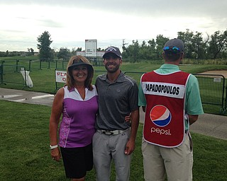 Aristides Papadopoulos of Eagle-Vail, Colo., says his mom, Patricia Papadopoulos, hasn't missed any of his golf tournaments that he can remember.