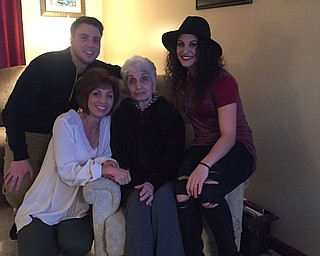 Toni Mattozzi of Austintown celebrated her 50th birthday with a three-generation picture that includes her mother, Blondine Buongrazio of Youngstown, and her children, Michael Raffa of Austintown and Marissa Mattozzi of Charlotte, N.C.