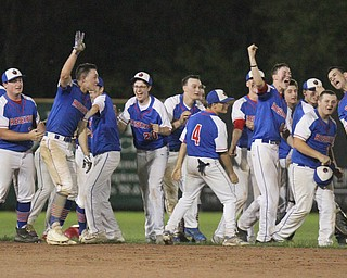William D. Lewis The Vindicator Western Reserve's players react after scoring winning run in 11 inning game with Jackson Milton at Cene 5-19-17