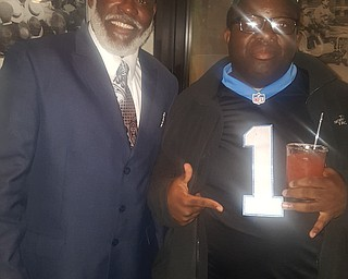 Kwame Dazie with his dad,