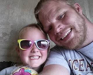 Peyton and her father, David Tiscenko of Cortland.