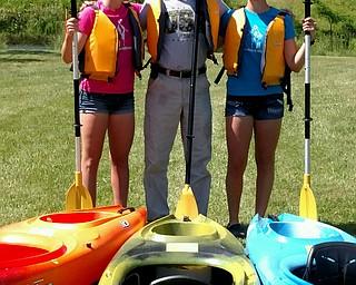 Rachael, dad Brad Amos and Megan of Salem.
